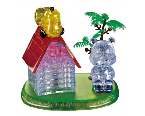 Домик с мишкой Crystal Puzzle 3d