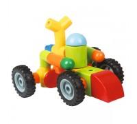 65 деталей Xinbida Детский Магнитный конструктор с погремушками на колесах